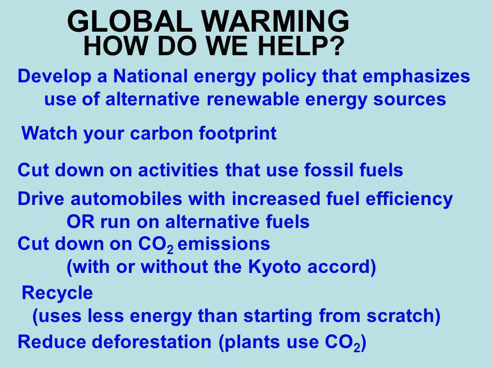 GLOBAL WARMING HOW DO WE HELP