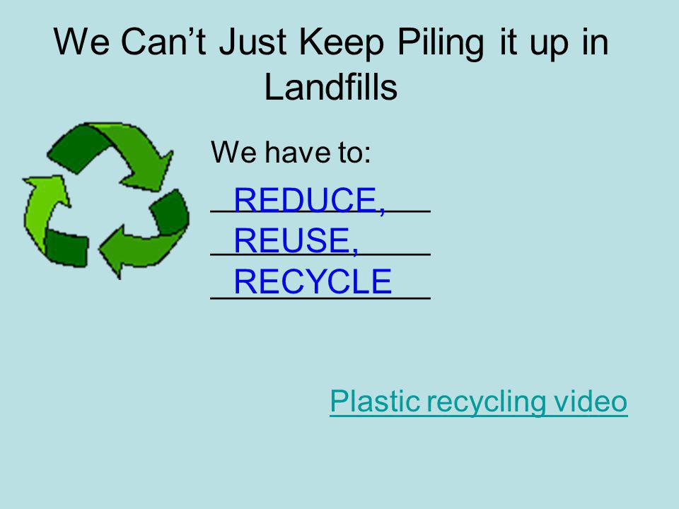 We Can't Just Keep Piling it up in Landfills