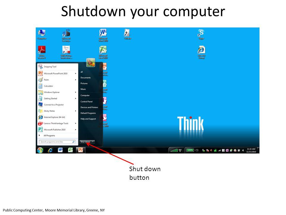 Shutdown your computer