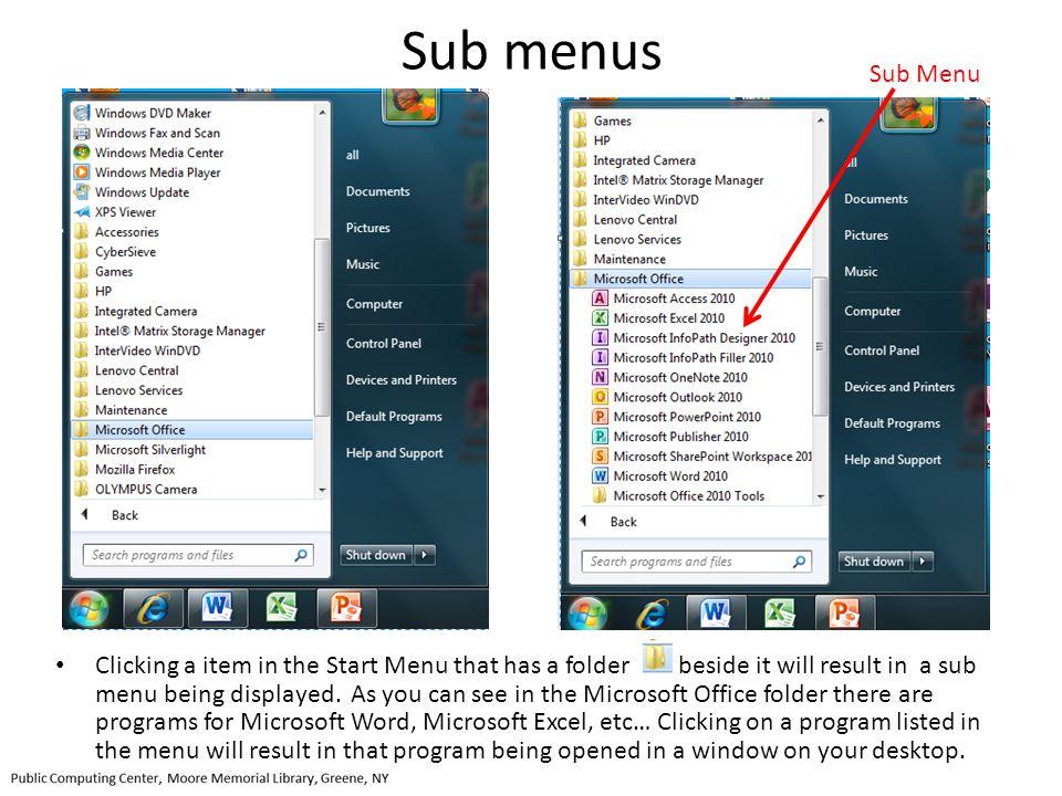 Sub menus Sub Menu.