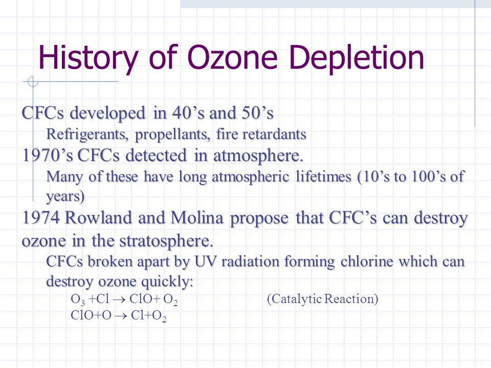 History of Ozone Depletion