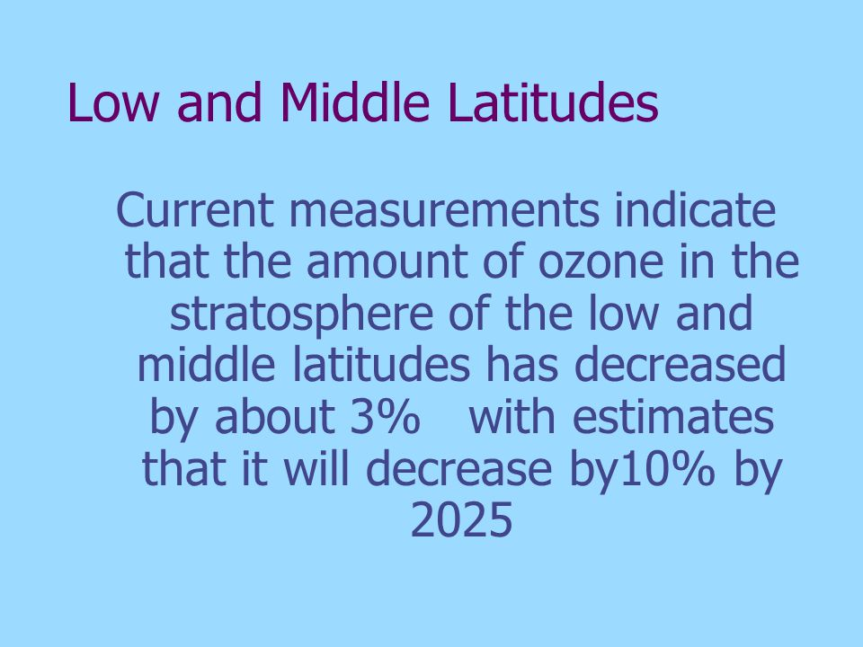 Low and Middle Latitudes