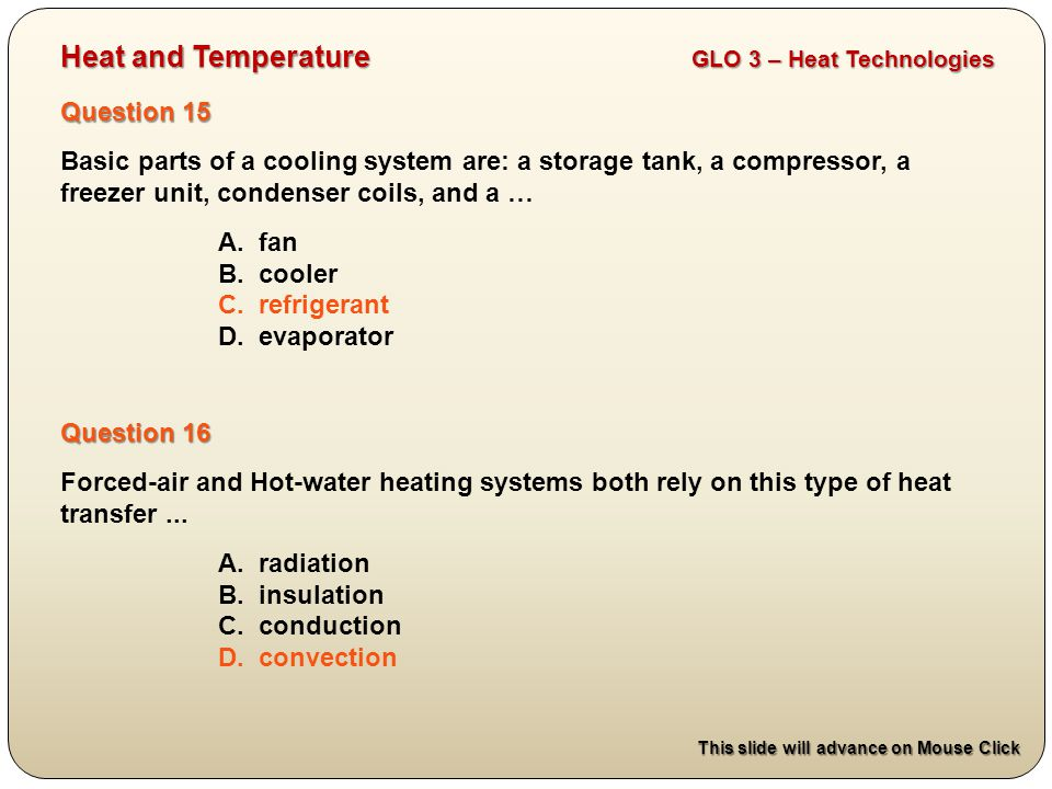 Heat and Temperature GLO 3 – Heat Technologies