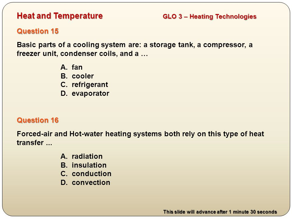Heat and Temperature GLO 3 – Heating Technologies