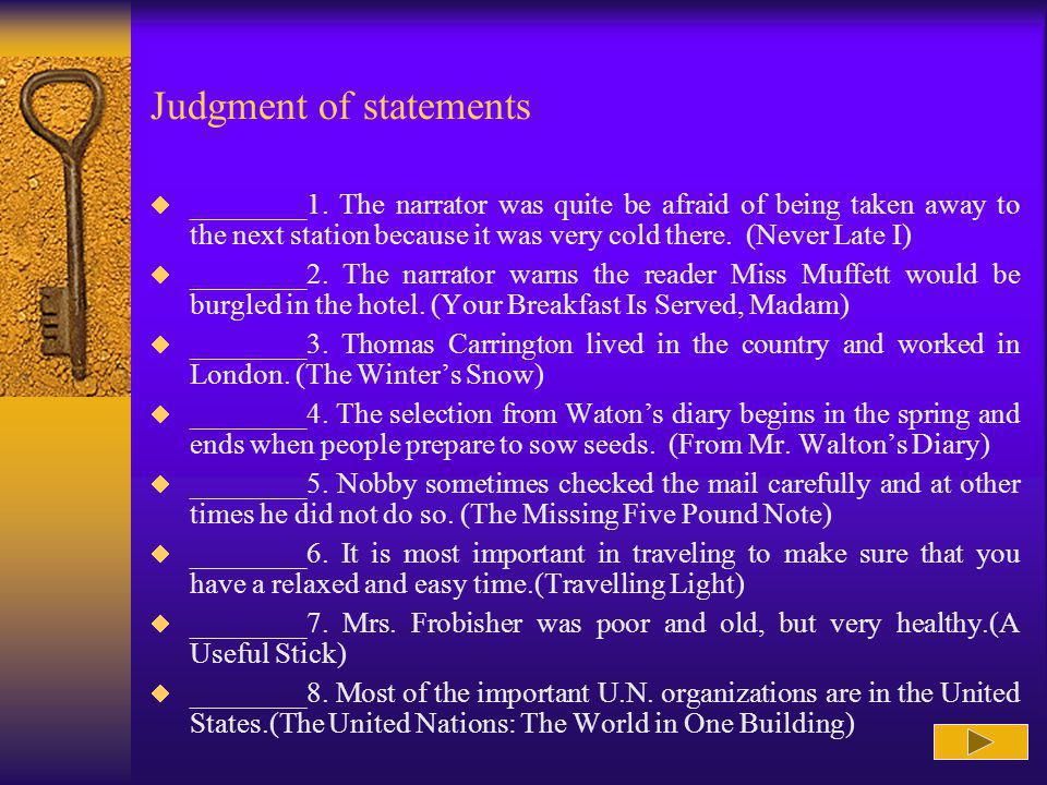 Judgment of statements