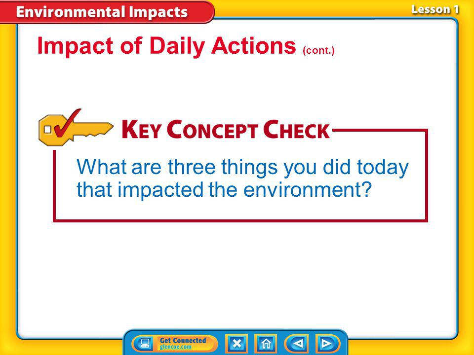 Impact of Daily Actions (cont.)