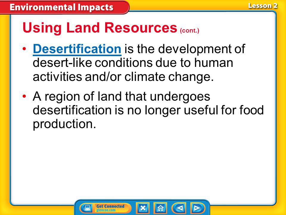 Using Land Resources (cont.)