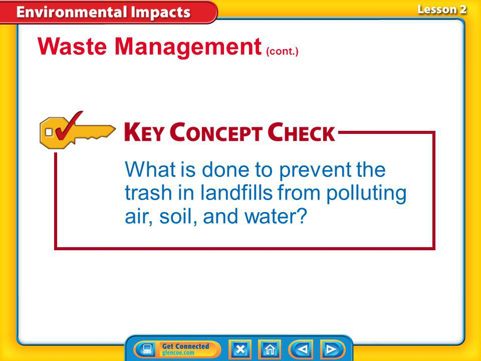 Waste Management (cont.)