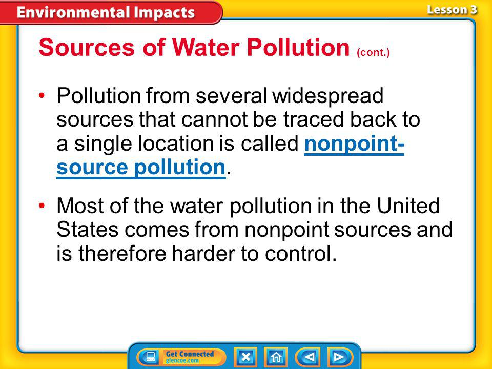 Sources of Water Pollution (cont.)