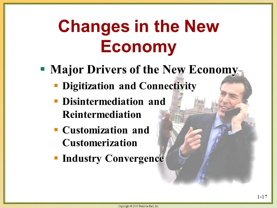 Changes in the New Economy
