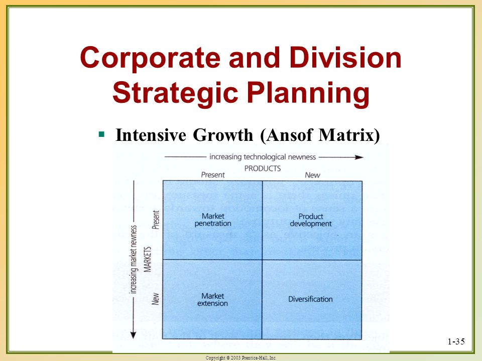 Corporate and Division Strategic Planning