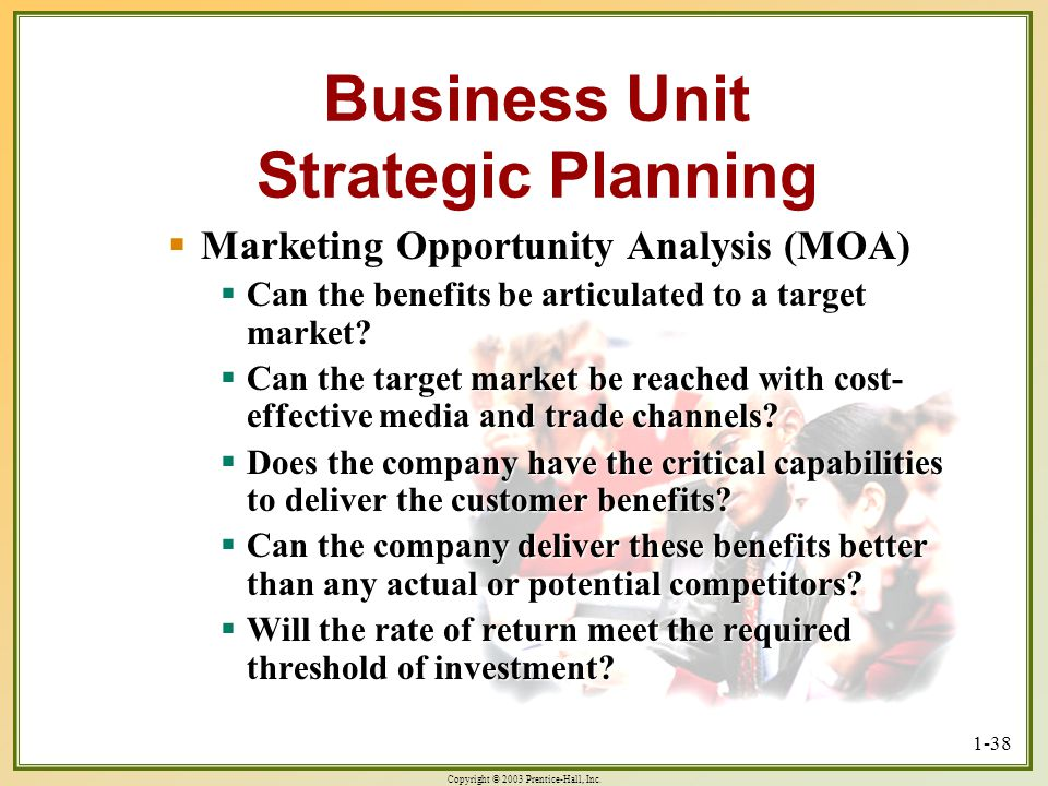 Business Unit Strategic Planning
