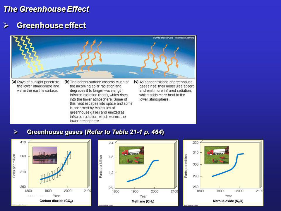 The Greenhouse Effect Greenhouse effect