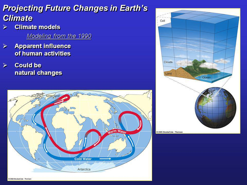 Projecting Future Changes in Earth's Climate