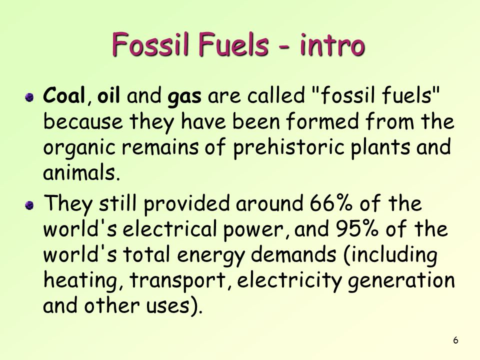 Fossil Fuels - intro