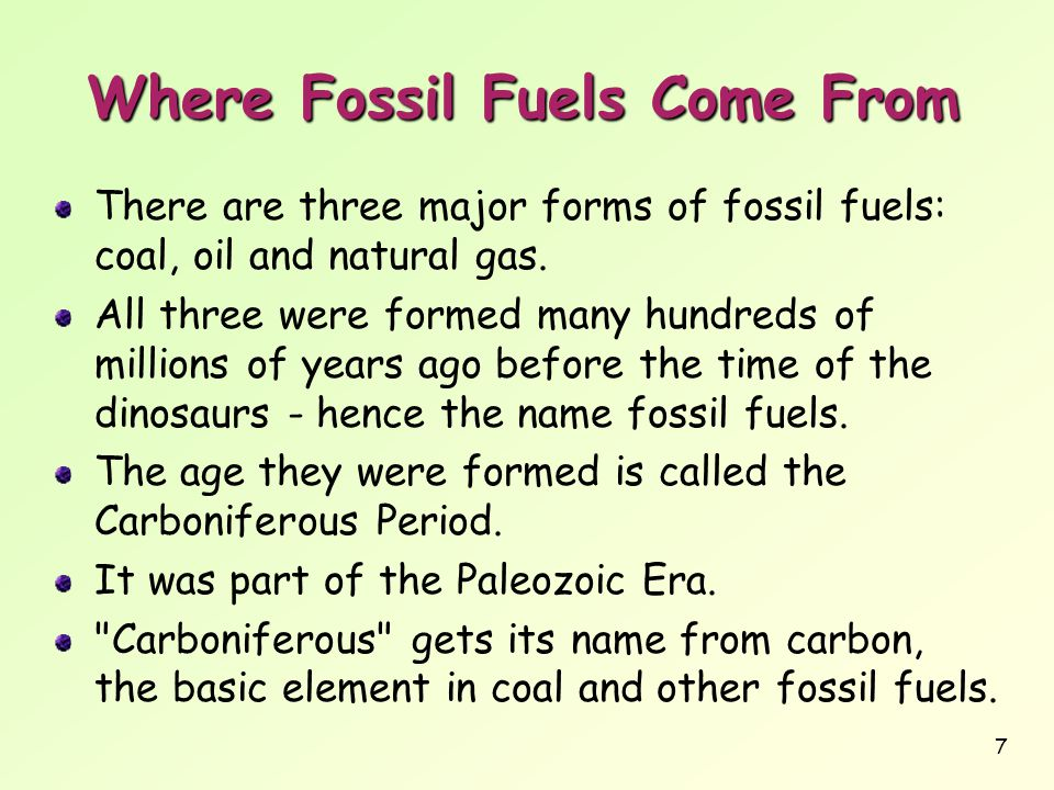 Where Fossil Fuels Come From