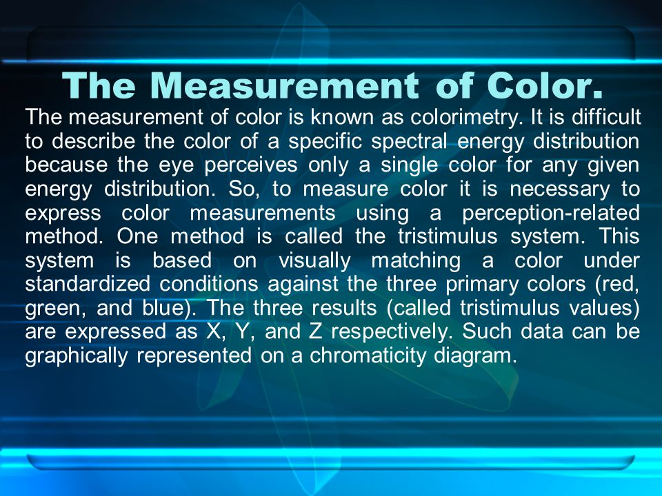 The Measurement of Color.