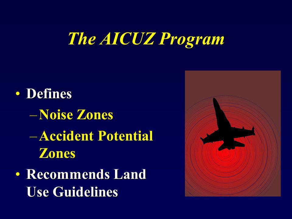 The AICUZ Program Defines Noise Zones Accident Potential Zones