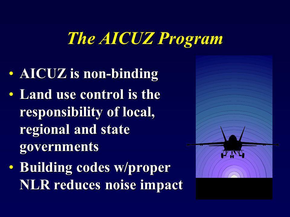 The AICUZ Program AICUZ is non-binding