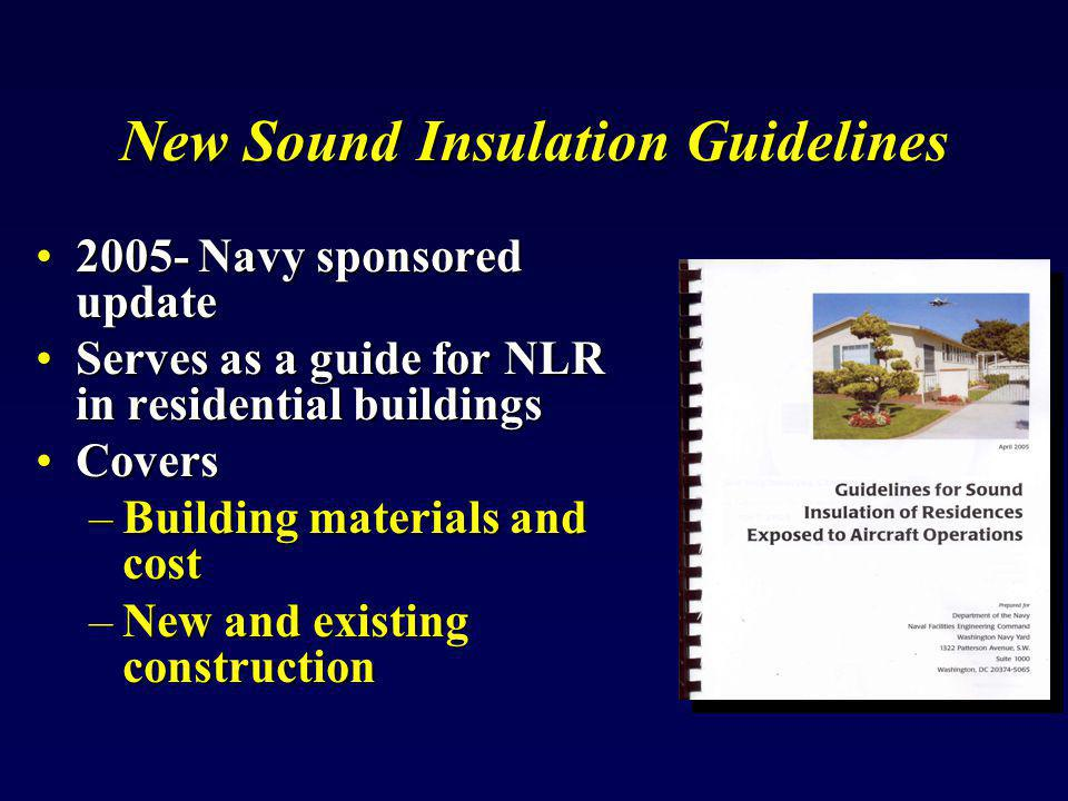 New Sound Insulation Guidelines