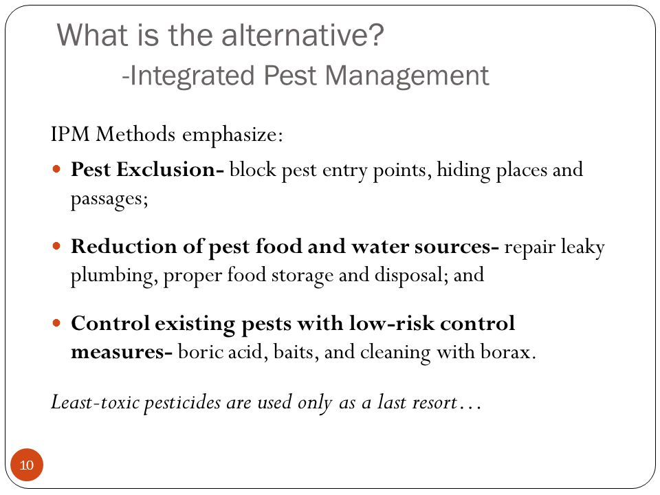 What is the alternative -Integrated Pest Management
