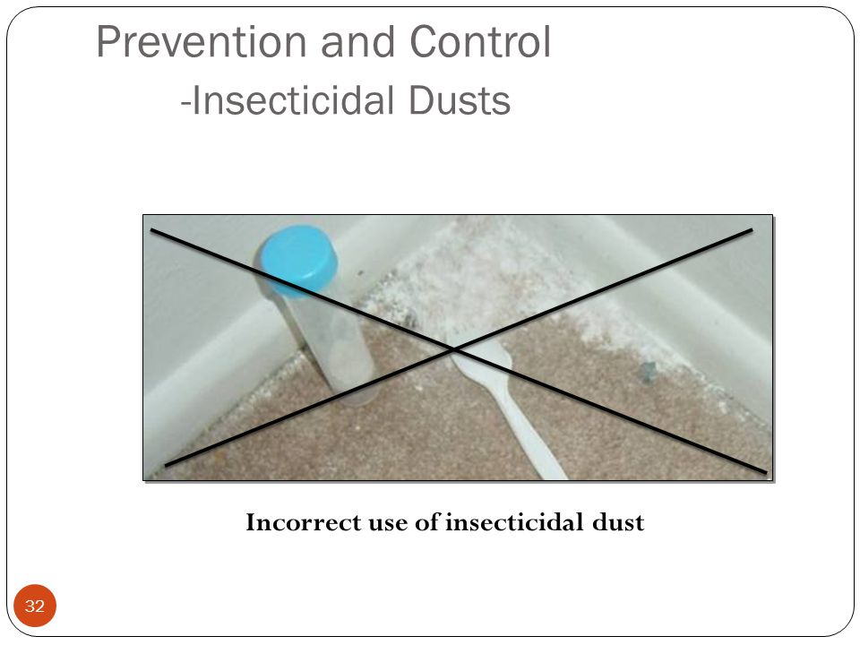 Prevention and Control -Insecticidal Dusts