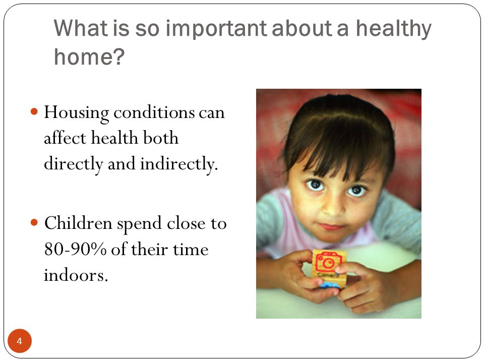 What is so important about a healthy home