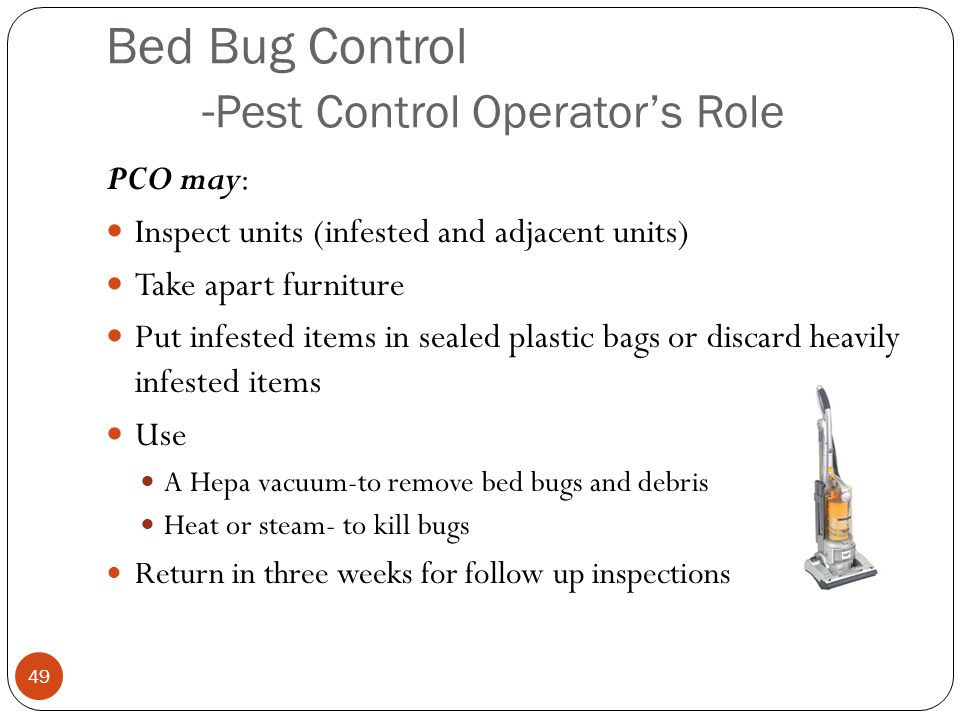 Bed Bug Control -Pest Control Operator's Role
