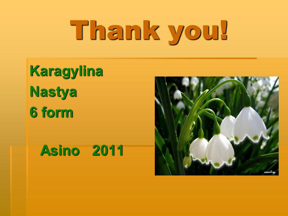Thank you! Karagylina Nastya 6 form Asino 2011