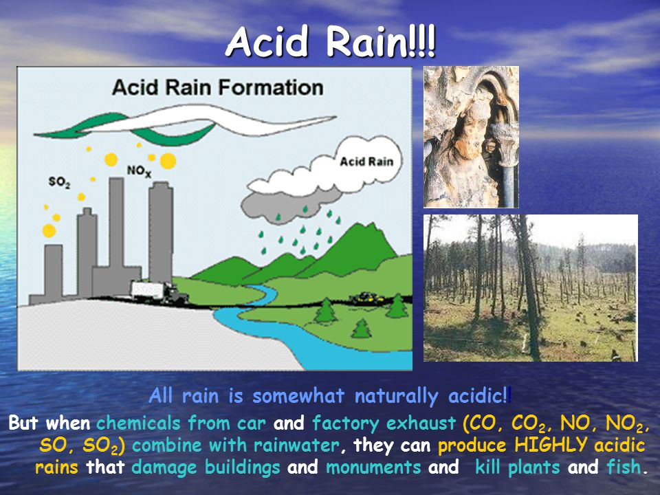 All rain is somewhat naturally acidic!!