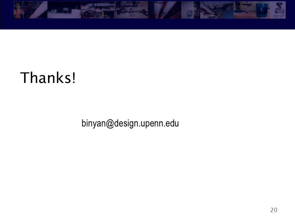 Thanks! binyan@design.upenn.edu