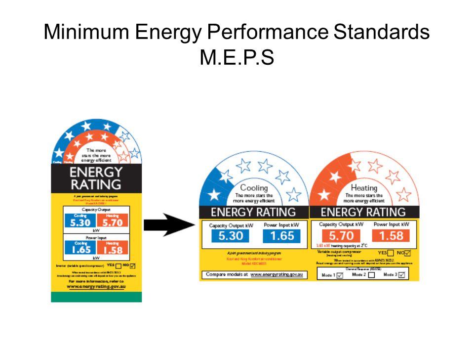 Minimum Energy Performance Standards M.E.P.S