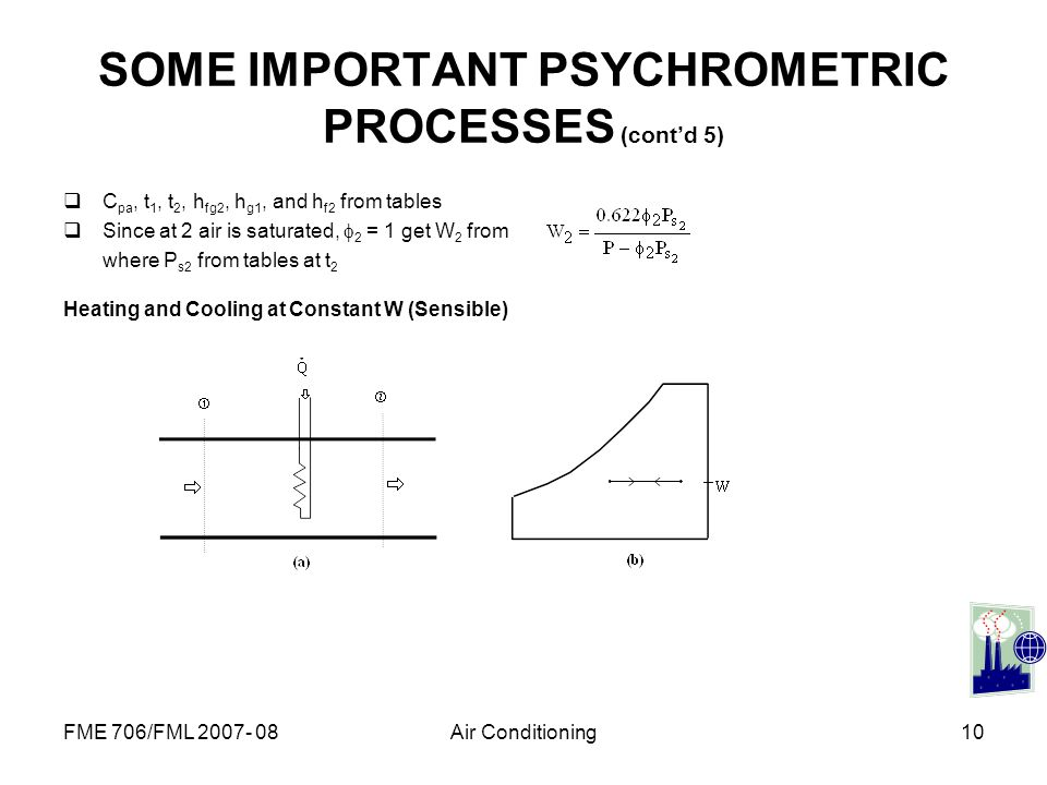 SOME IMPORTANT PSYCHROMETRIC PROCESSES (cont'd 5)