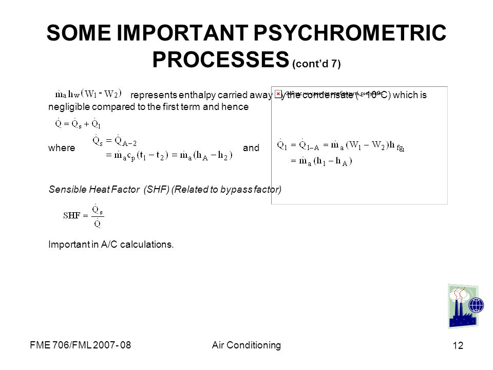 SOME IMPORTANT PSYCHROMETRIC PROCESSES (cont'd 7)