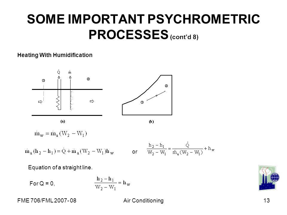 SOME IMPORTANT PSYCHROMETRIC PROCESSES (cont'd 8)