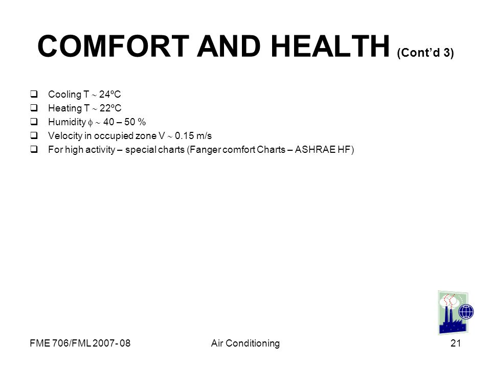 COMFORT AND HEALTH (Cont'd 3)