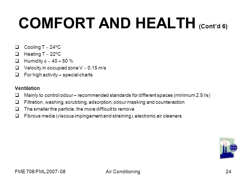 COMFORT AND HEALTH (Cont'd 6)