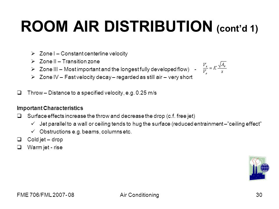 ROOM AIR DISTRIBUTION (cont'd 1)