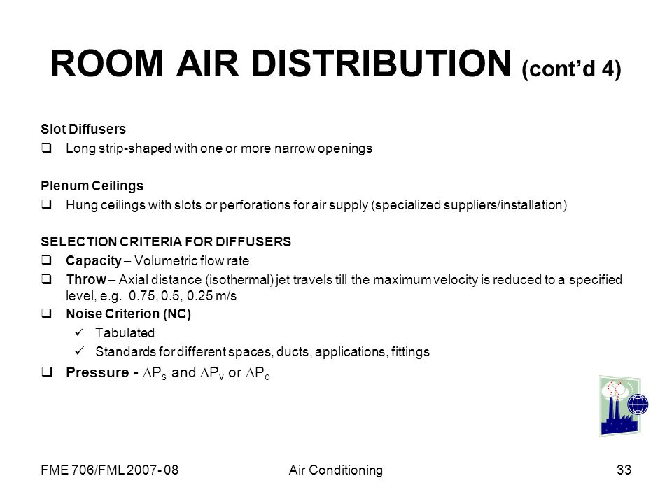 ROOM AIR DISTRIBUTION (cont'd 4)