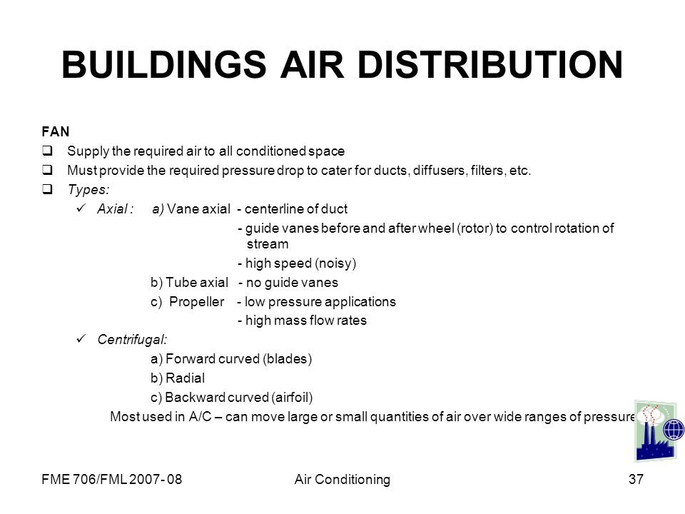 BUILDINGS AIR DISTRIBUTION