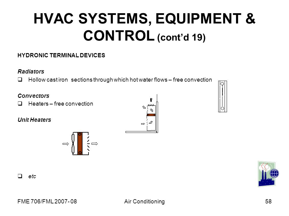 HVAC SYSTEMS, EQUIPMENT & CONTROL (cont'd 19)