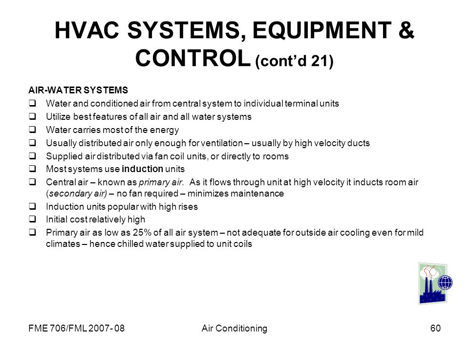 HVAC SYSTEMS, EQUIPMENT & CONTROL (cont'd 21)