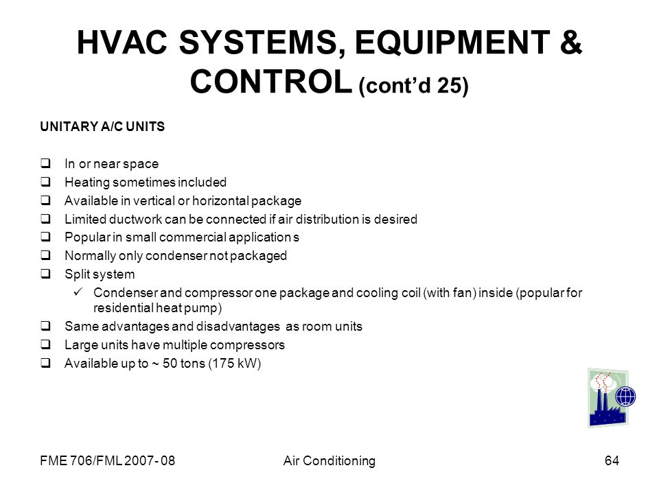 HVAC SYSTEMS, EQUIPMENT & CONTROL (cont'd 25)