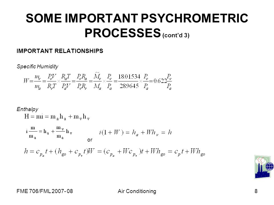 SOME IMPORTANT PSYCHROMETRIC PROCESSES (cont'd 3)