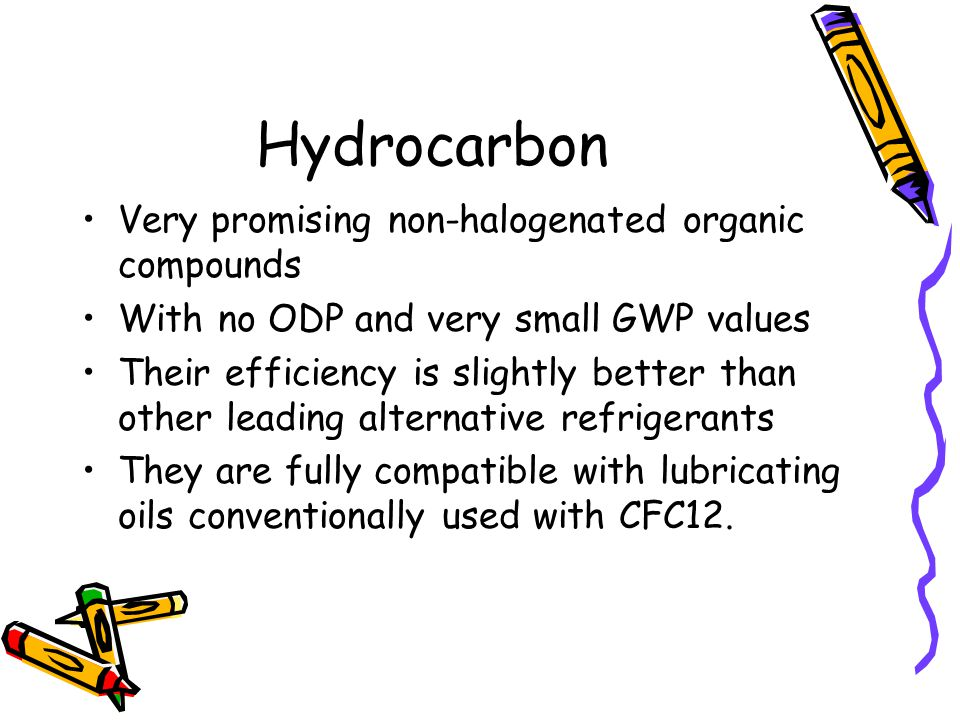 Hydrocarbon Very promising non-halogenated organic compounds
