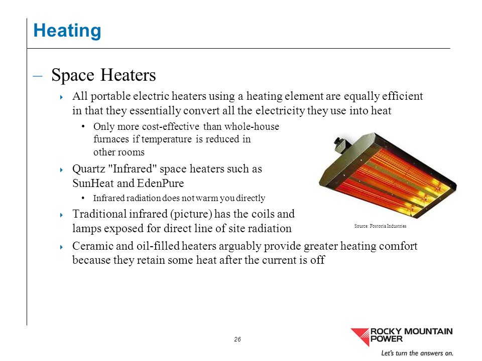 Heating Space Heaters.