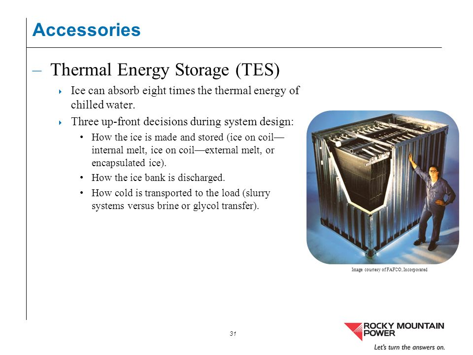 Thermal Energy Storage (TES)