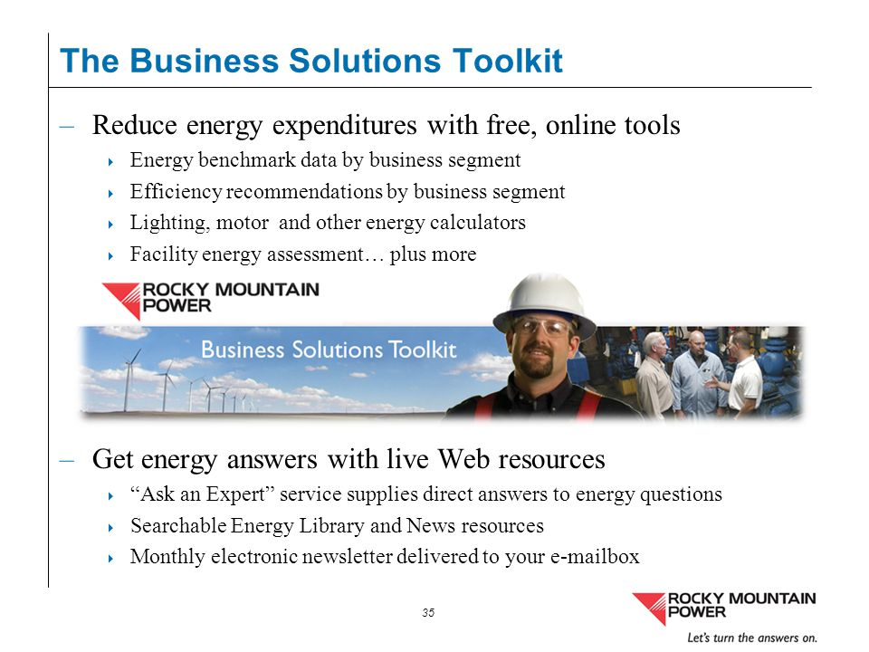 The Business Solutions Toolkit