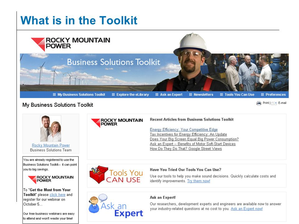 What is in the Toolkit
