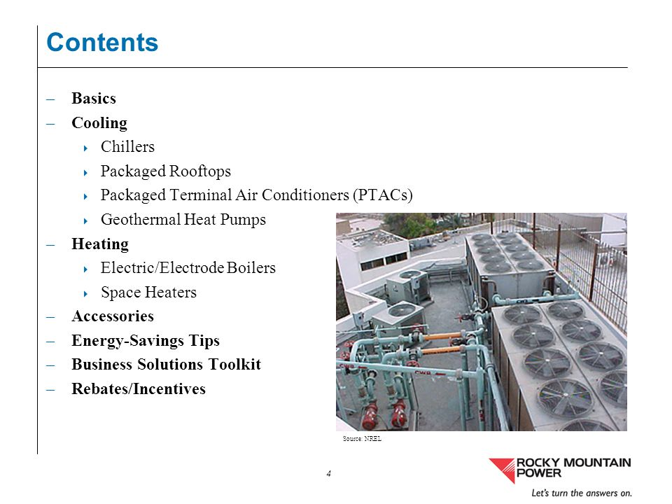 Contents Basics Cooling Chillers Packaged Rooftops